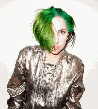 Леди ГаГа,Леди Гага,Леди Гага фото,Леди ГаГа зеленые волосы