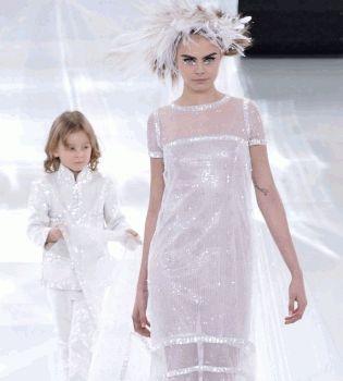 Chanel,Chanel показ,Chanel неделя моды,Кара Делевинь,Ольга Куриленко