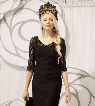 Оля Полякова,кокошник,платье,фото,Ukrainian Fashion Week,журнал Viva