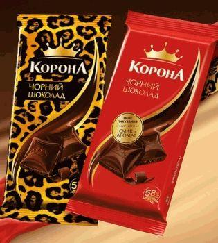 шоколад корона,в леопардовой упаковке
