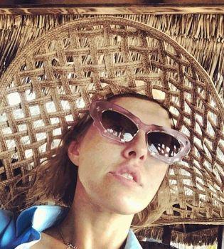 Ксения Собчак,на пляже,на Мальдивах,в бикини,фото,Инстаграм,муж,Максим Виторган