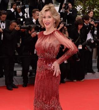 Джейн Фонда,Каннский кинофестиваль 2014,платье,фигура,фото
