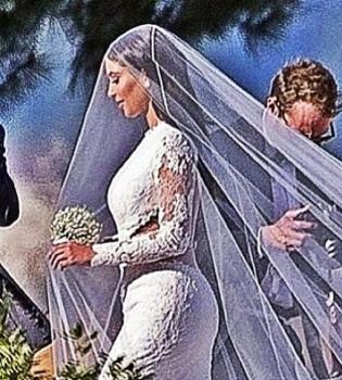 Ким Кардашьян,Канье Уэст,вышла замуж,свадьба,фото