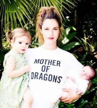 Дрю Берримор,фото,дочь,семья,новорожденная дочь,дети