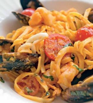 паста,рецепт,морепродукты