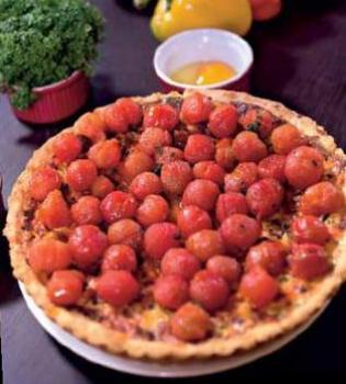 кныш,помидоры,ветчина,рецепт