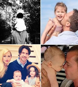 День отца,дети,звездные дети,фото,звездные папы,Гвен Стефани,Бейонсе,Хилари Дафф,Обама с семьей,Жерар Пике