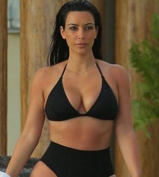 Ким Кардашьян,фото,фотосессия,фигура,бикини