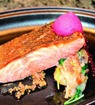 лосось,свекла,картофель,рецепт