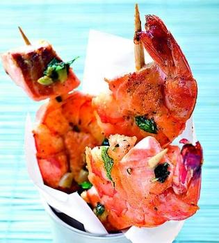 креветки,лосось,рецепт,морепродукты,рыба