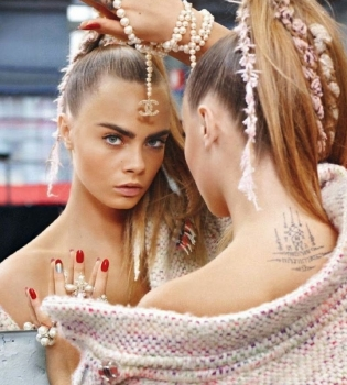 Кара Делевинь,фото,реклама,Chanel,2014,фотосессия