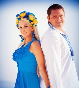 Катя Бужинская,муж,фото,день рождения,фотосессия,Санторини