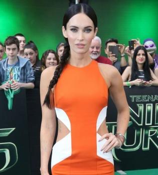 Меган Фокс,фото,платье,фигура,черепашки-ниндзя,фильм,премьера