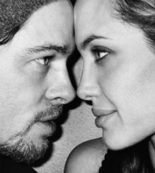 Анджелина Джоли,Брэд Питт,у моря,фильм,фото