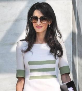 Джордж Клуни,Амаль Аламуддин,фото,деловой стиль,сменила фамилию,в Греции,Афины