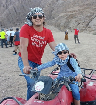 Сергей Притула,сын,фото,отдых,Египет