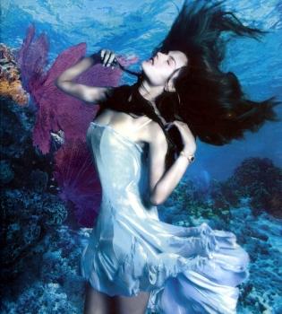 Алессандра Амбросио,Каролина Куркова,реклама,фотосессия,под водой,фото,Rolex