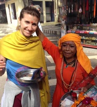 Анита Луценко,йога,тренировка,фото,Индия