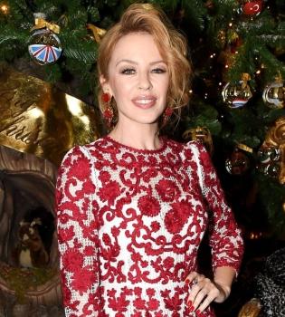 Кайли Миноуг,фигура,стиль,фото,платье,Стефано Габбана,вечеринка,Рождество,Елка