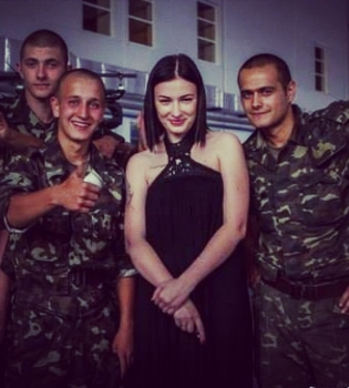 Анастасия Приходько,Революция Достоинства,Майдан,годовщина,фото,татуировка
