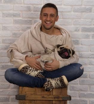 Дима Монатик,фото,собака,мопс,Monatik