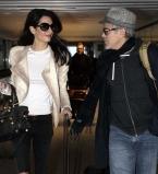 Джордж Клуни,Амаль Аламуддин,папарацци,фото,аэропорт