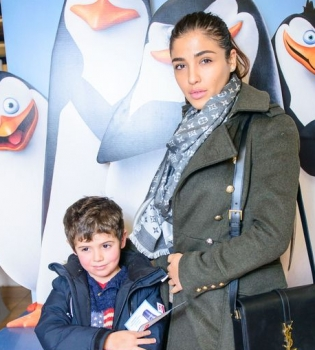 Оля Полякова,дочери,фото,Пингвины Мадагаскара,премьера,Санта Димопулос,сын