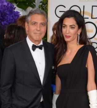 Золотой глобус 2015,красная дорожка,Джордж Клуни,Амаль Аламуддин