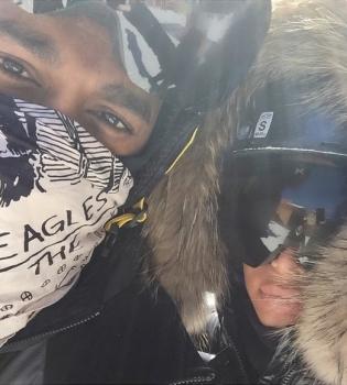 Ким Кардашьян,на лыжах,фото,Канье Уэст,на отдыхе