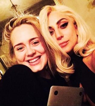 Леди Гага,Адель,дуэт,фото