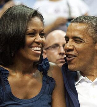 Мишель Обама,Барак Обама,детские фото