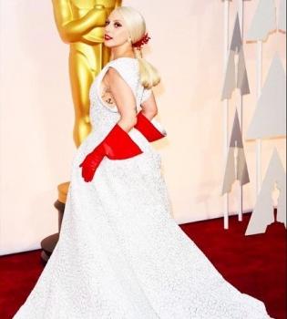 Леди Гага,Оскар 2015 красная дорожка, Леди Гага платье Оскар 2015, Леди Гага платье фото, Оскар 2015 фото