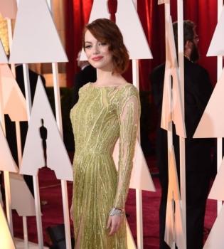 Оскар 2015,Эмма Стоун,Эмма Стоун опозорилась,Эмма Стоун показала нижнее белье,фото