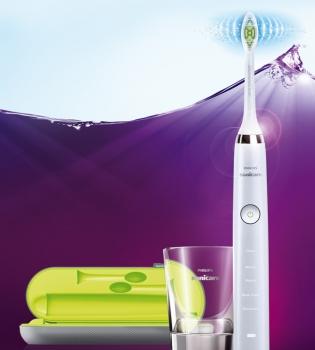 зубная щетка, электрическая зубная щетка,  зубная щетка Philips Sonicare DiamondClean, чистить зубы, белоснежные зубы, налет на языке