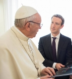 Марк Цукербер,Марк Цукербрег фото,Папа Римский,Присцилла Чан