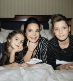 Лилия Подкопаева снялась в фотосессии с сыном и дочерью