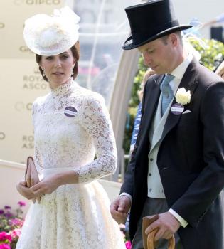 Кейт Миддлтон, Кейт Миддлтон платье, Кейт Миддлтон 2017, Кейт Миддлтон фото 2017, Alexander McQueen, королевские скачки, Royal Ascot
