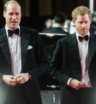 В стиле Джеймса Бонда: принц Гарри и принц Уильям блистают на премьере