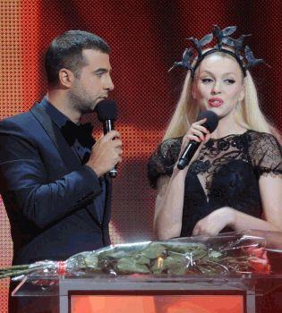 Иван Ургант,Оля Полякова,самые красивые 2012