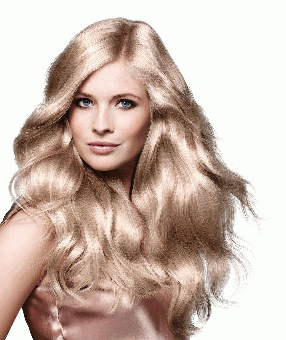 Волосы жемчужного цвета