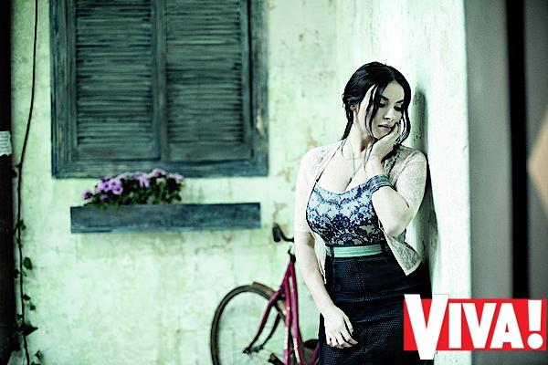 Надежда Мейхер в фотосессии для Viva!