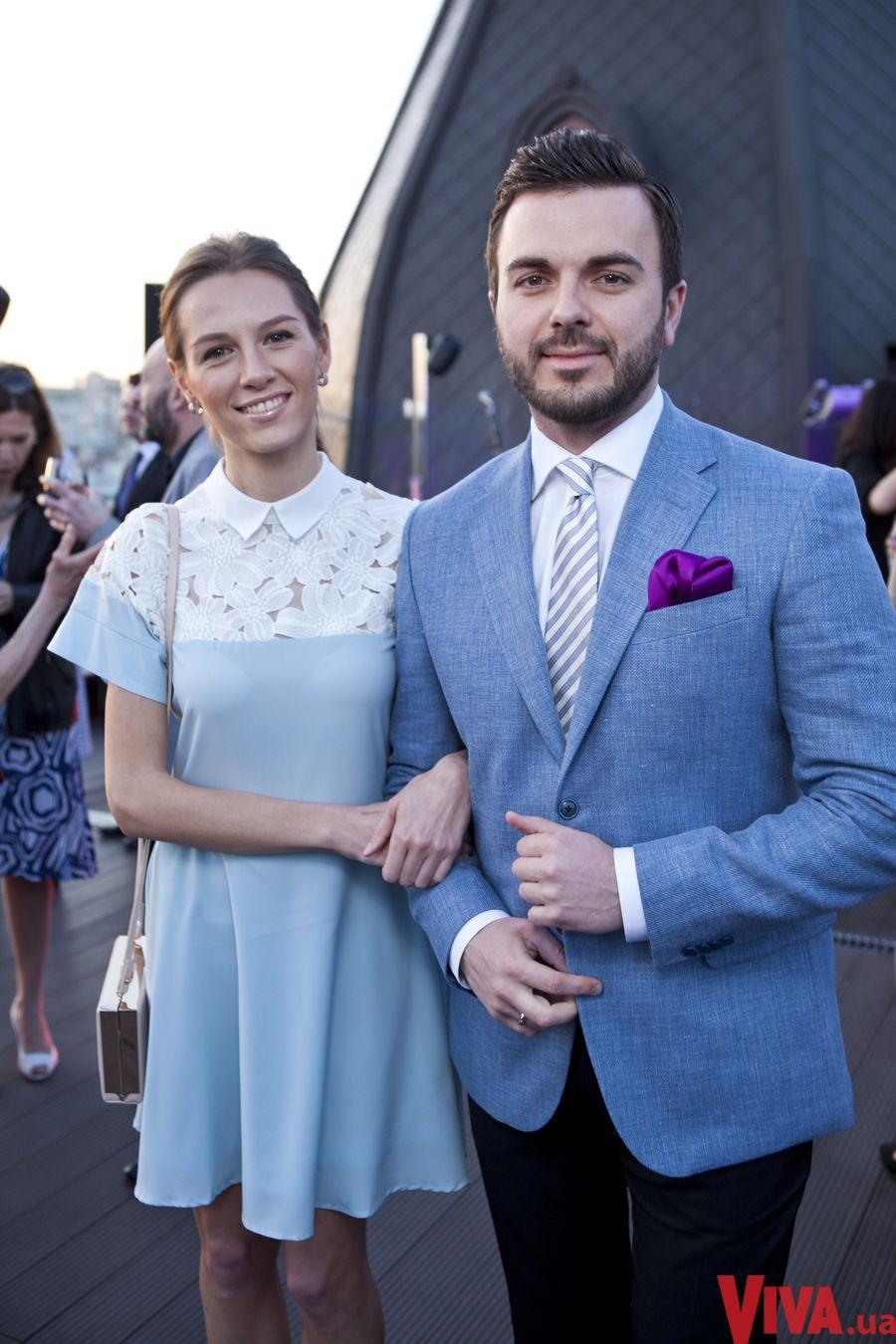 Григорий Решетник с супругой Кристиной