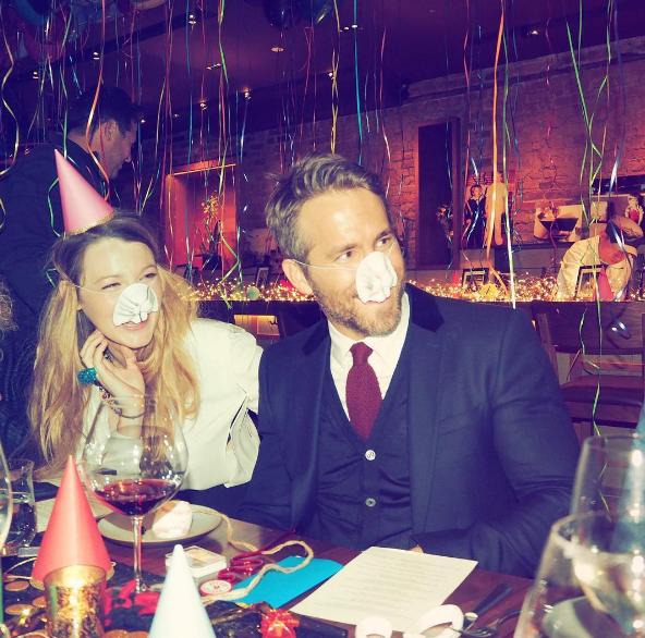 Райан Рейнольдс вместе с Блейк Лайвли отметил день рождения