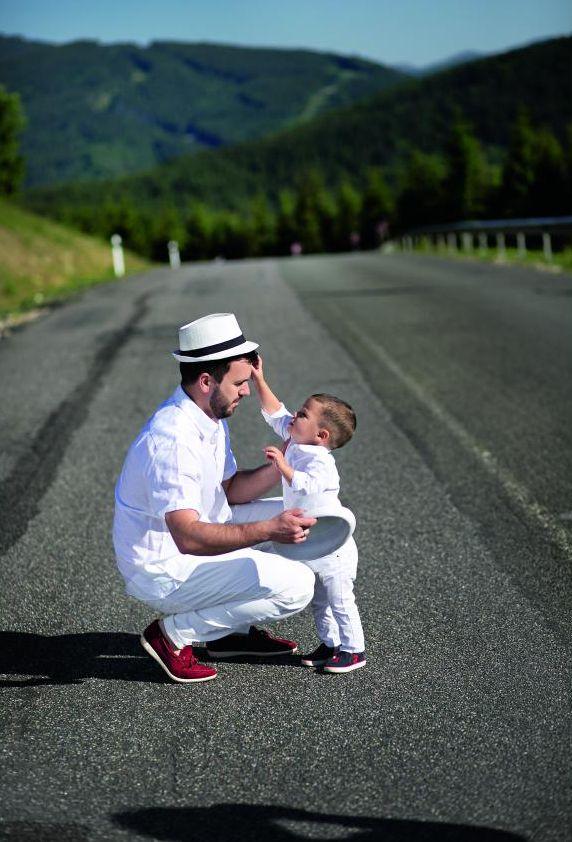 Григорий Решетник с сыном