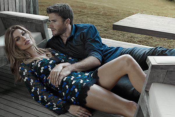 Соблазнительная Жизель Бундхен снялась в фотосессии с голливудским красавцем-актером