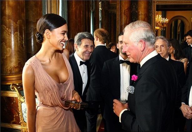 Королевский прием: Ирина Шейк встретилась с принцем Чарльзом