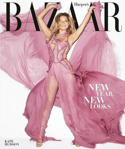 Неподражаемая Кейт Хадсон украсила обложку Harper'S Bazaar