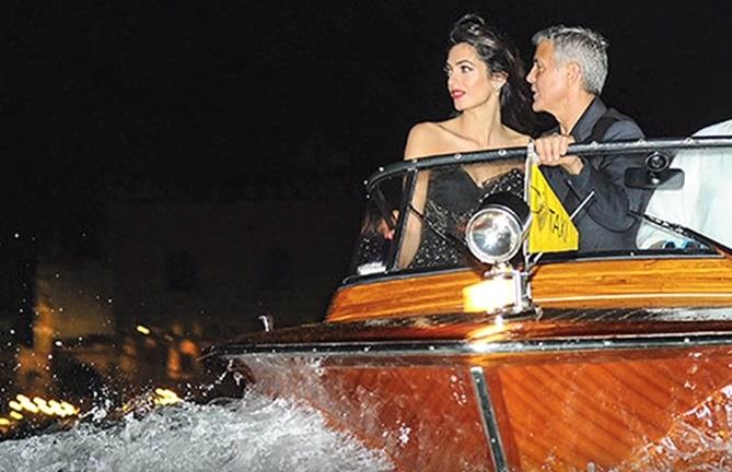 Первый выход родителей: Джордж и Амаль Клуни посетили Венецианский фестиваль