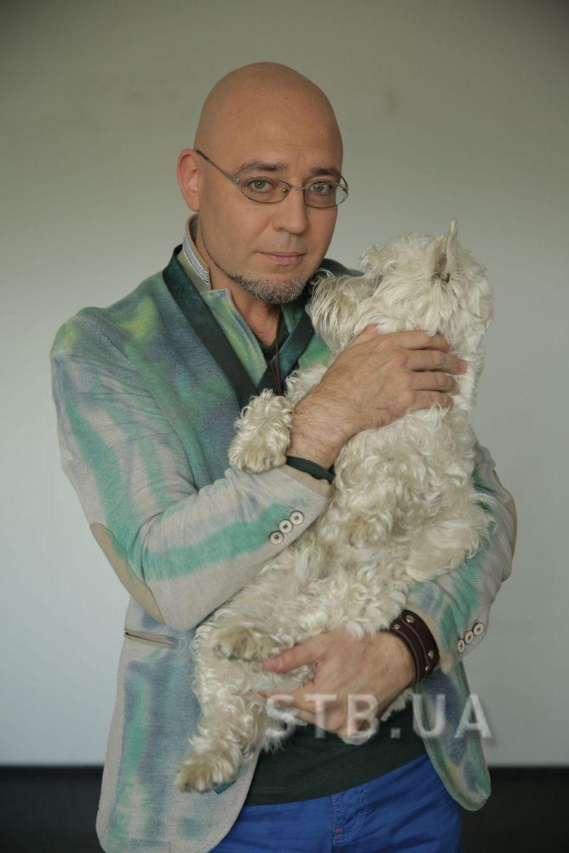 Раду Поклитару с собакой