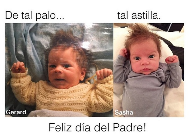 Шакира показала фото Жерара Пике в детстве и сравнила с их сыном Сашей (Фото)